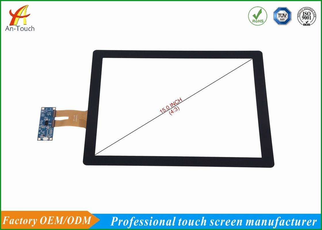 Waterproof Interactive Usb Touch Panel , Karaoke Player Touch Screen 15 Inch