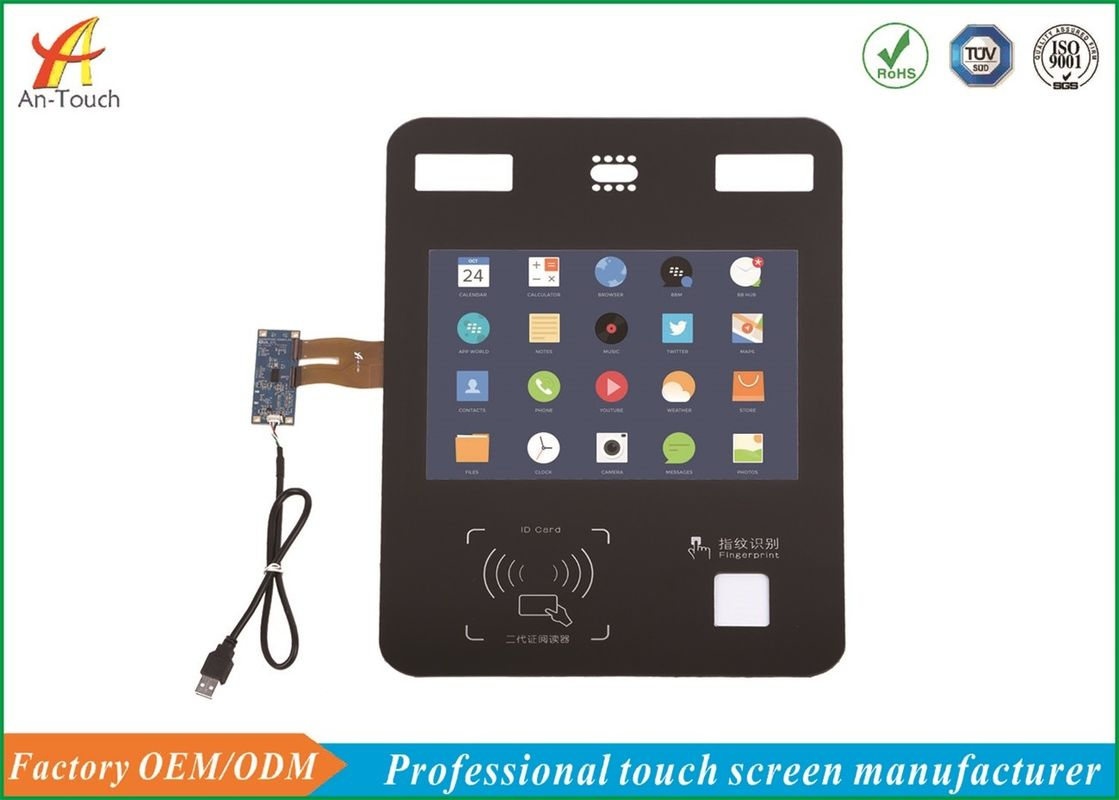 USB 12.1 Projected Capacitive Touch Panel For Face Recognition Device , Support Android System